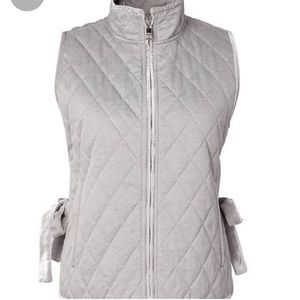 Banana Republic Gray Quilted Vest XS